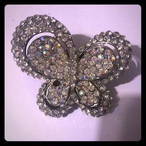 Jewelry - Rhinestone butterfly Ring